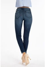 The Global Dark Wash Frayed Hem Skinny