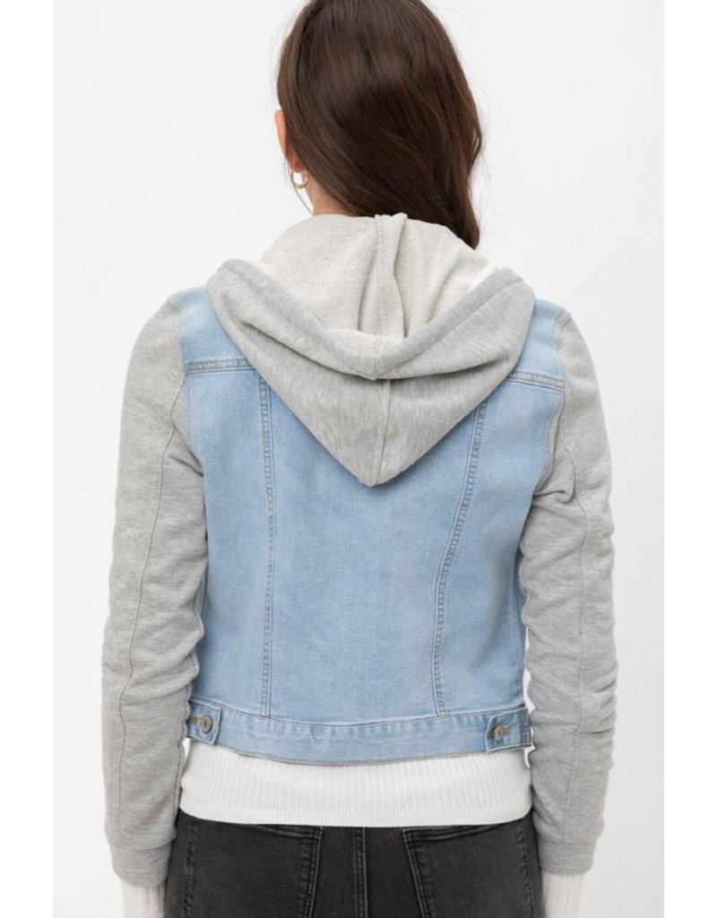 The Look At Me Now Hooded Denim Jacket
