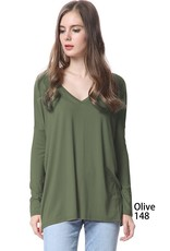 The Go To Long Sleeve V-Neck Top