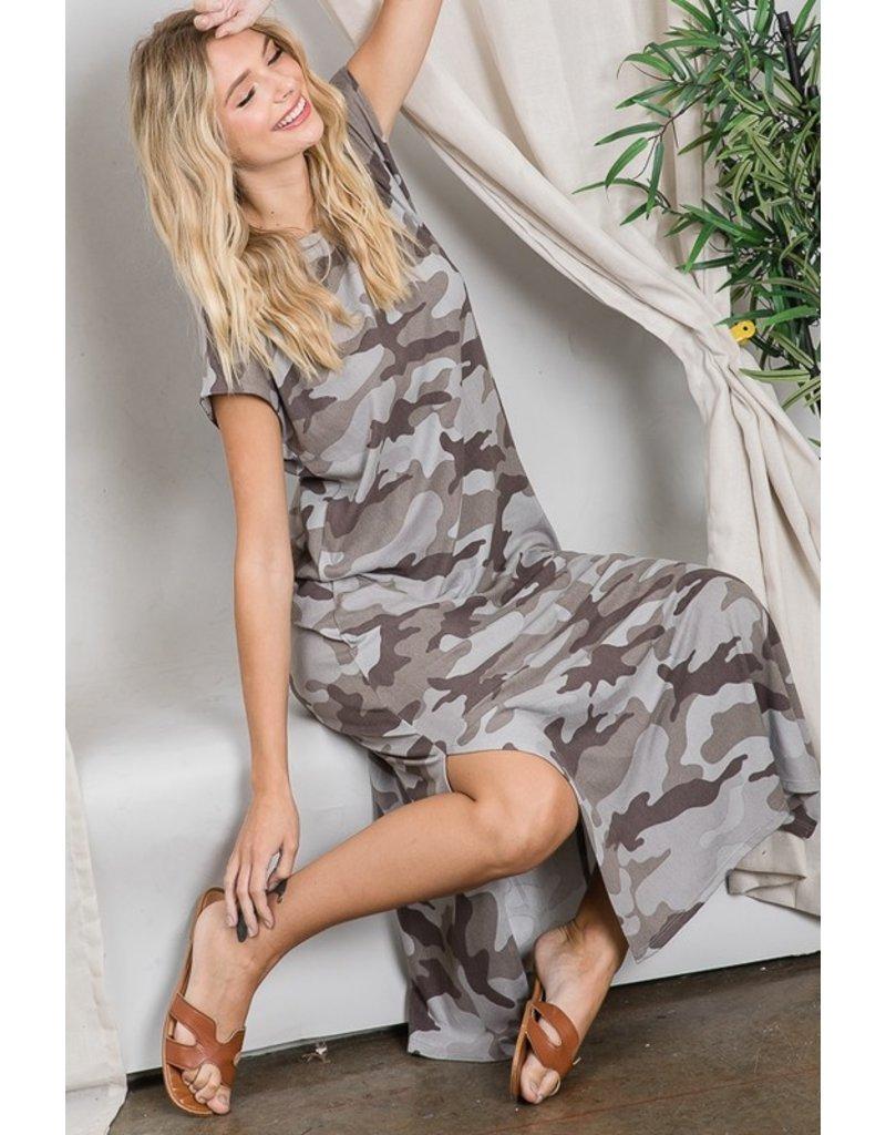 The My New Obsession Camo Midi Dress