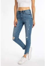 The Nikita Slit Knee Ankle Distressed Skinny