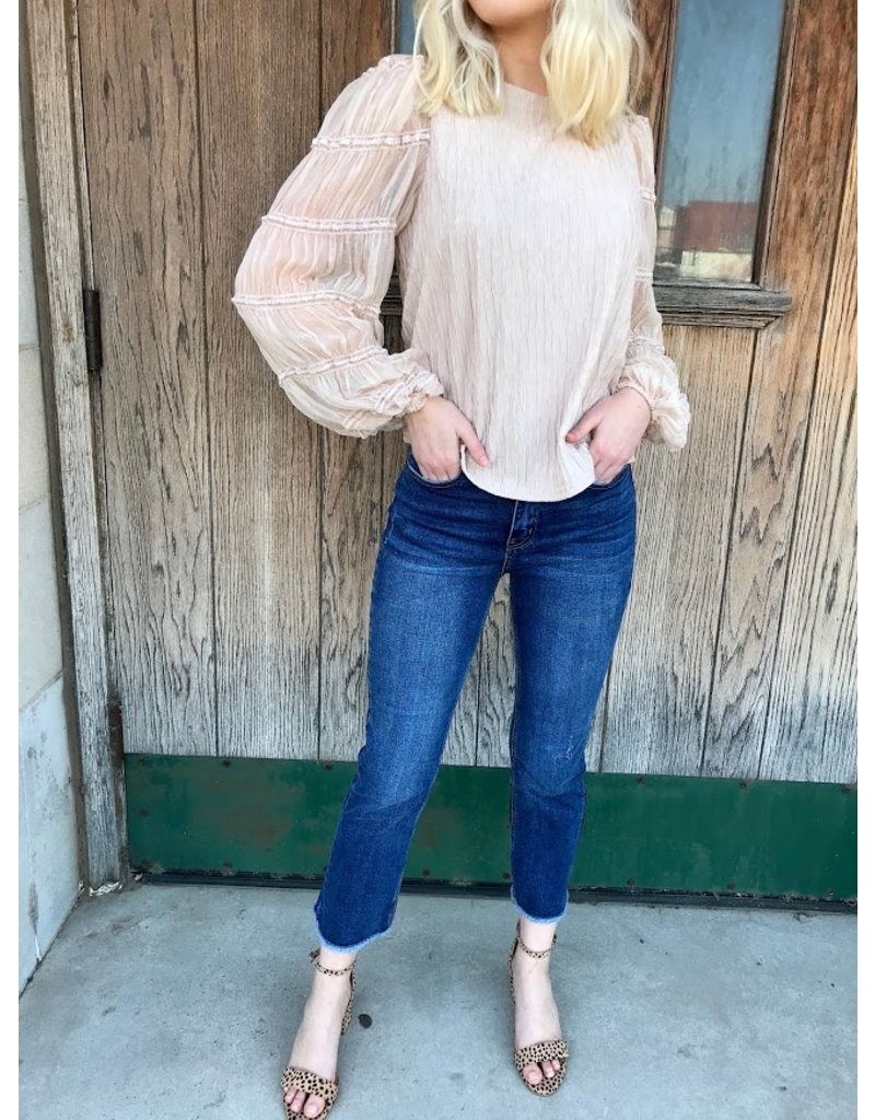 The Angel Wings Bubble Sleeve Top