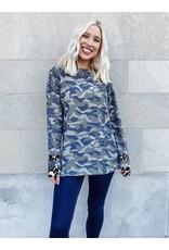 The Inventive Camo + Leopard Print Top