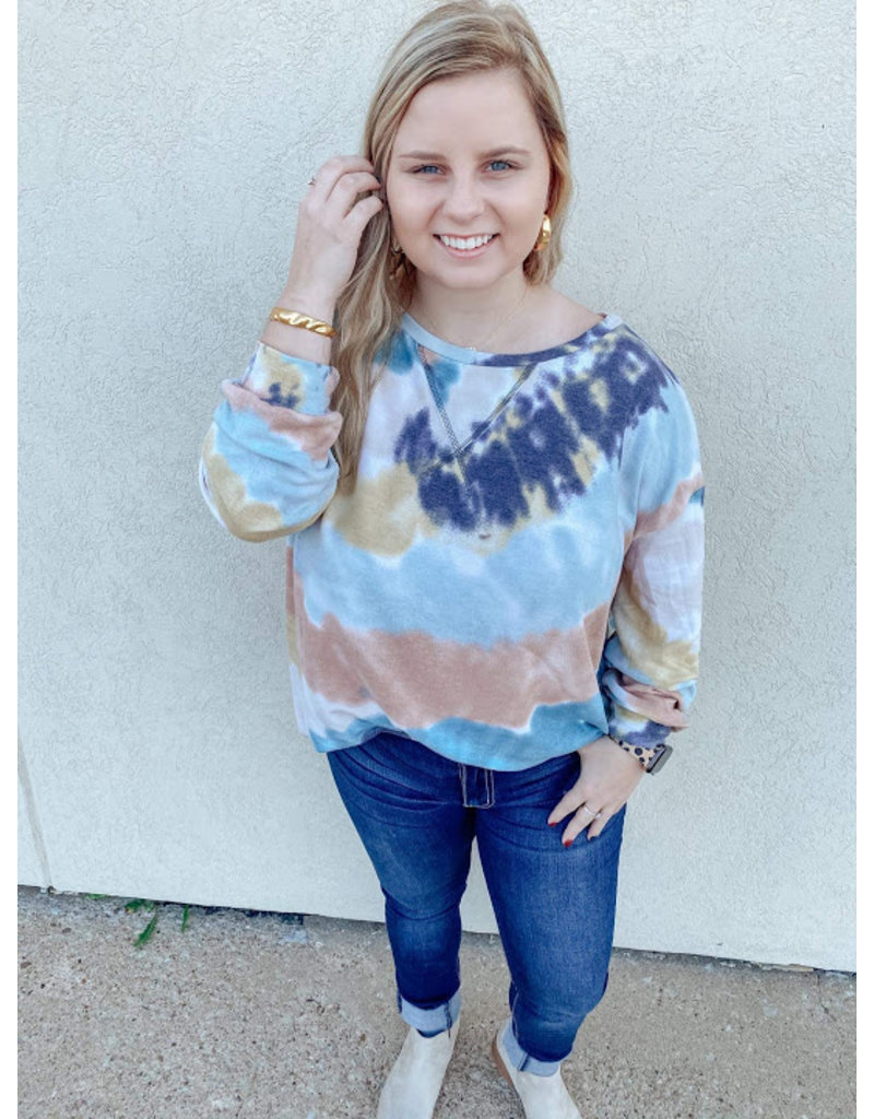 The Lauren Tie Dye Terry Knit Top