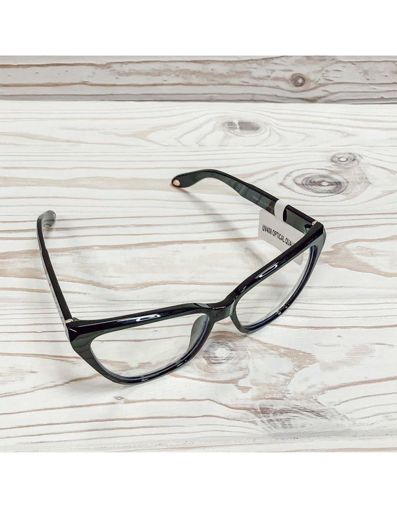 Emily Cat Eye Blue Light Glasses - Black