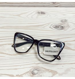 Emily Cat Eye Blue Light Glasses - Black