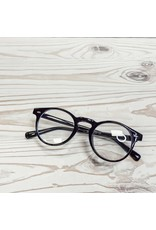 Classic Round Blue Light Glasses - Black