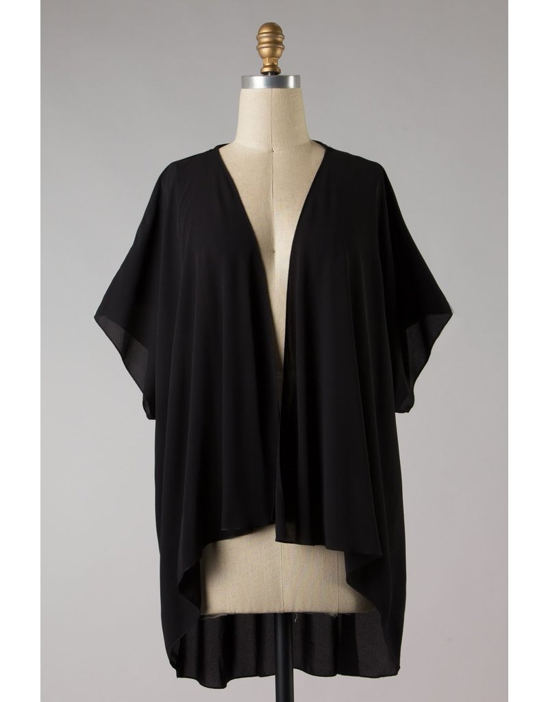 The Elegance Asymmetrical Hem Kimono