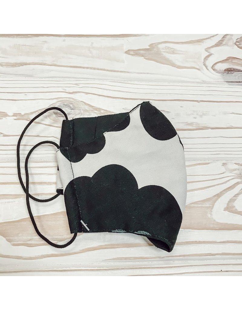 Black + White Printed Mask