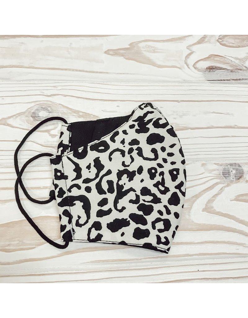 Stone Leopard Print Mask