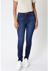 Kancan Dark Wash High Rise Skinny - Curvy Collection