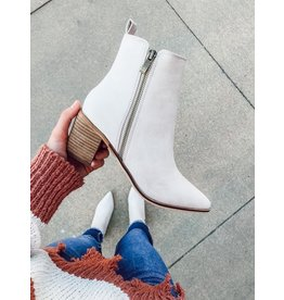 The Cindy Faux Leather Heeled Bootie