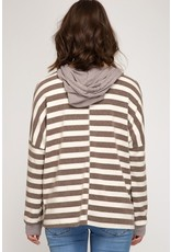 The Getting Things Done Striped Hoodie