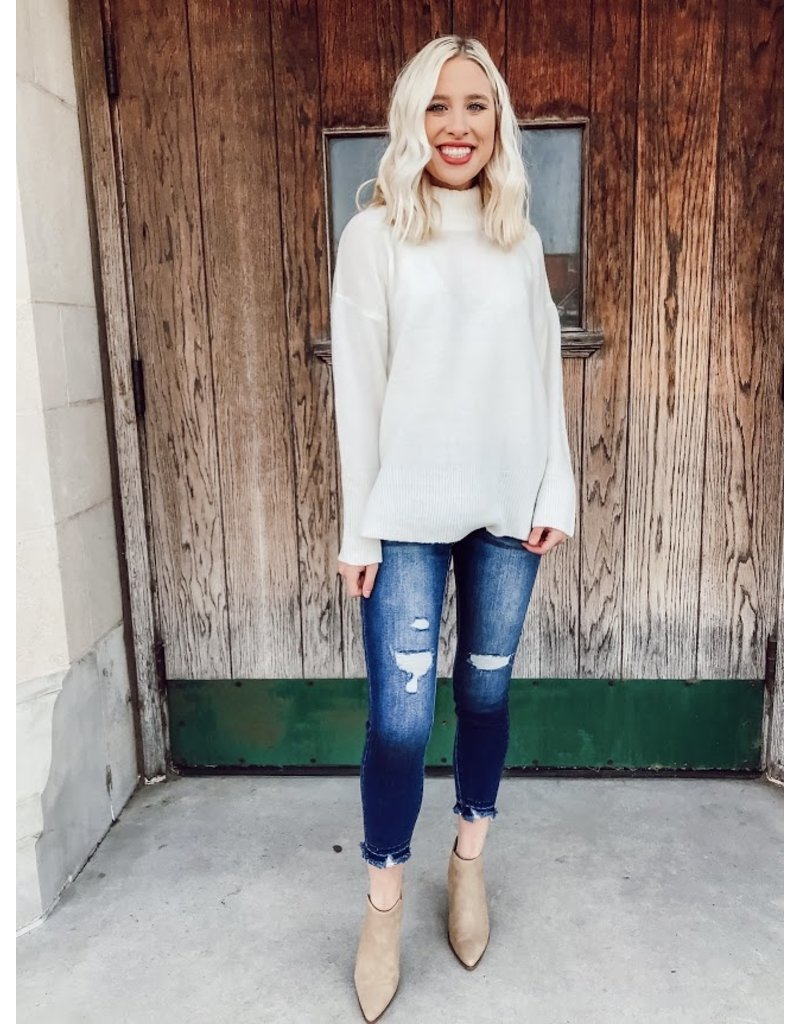 The Silent Mode Mock Neck Sweater