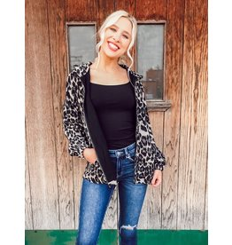 The Andrea Leopard Print Hooded Jacket