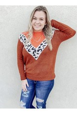 The My Good Side Leopard Color Block Sweater
