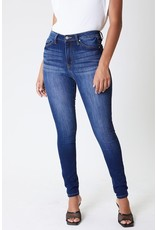 The Jenna High Rise Dark Wash Curvy Skinny