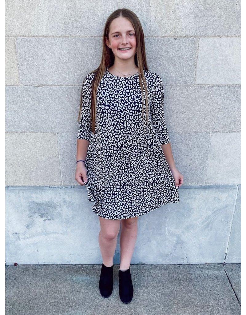 The Leopard Swing Dress - Kids