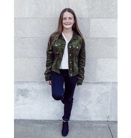 The Olive Corduroy Jacket - Kids