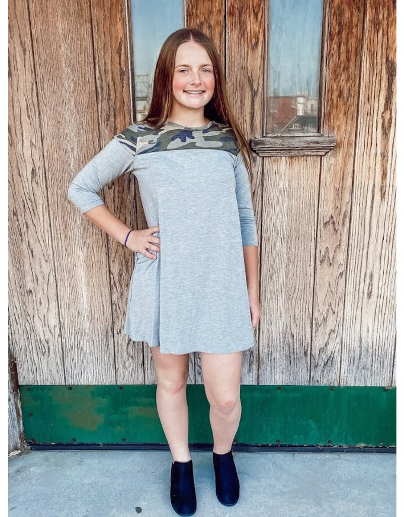 The Camo Shift Dress - Kids