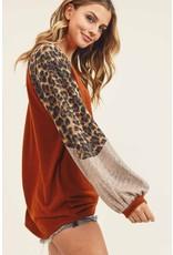 The Happy Hour Glam Leopard Metallic Top