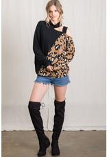 The Sweet Release Cold Shoulder Leopard Top