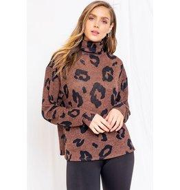 Let Me Love You Leopard Turtleneck Top