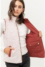 The Skye Reversible Quilted + Sherpa Vest