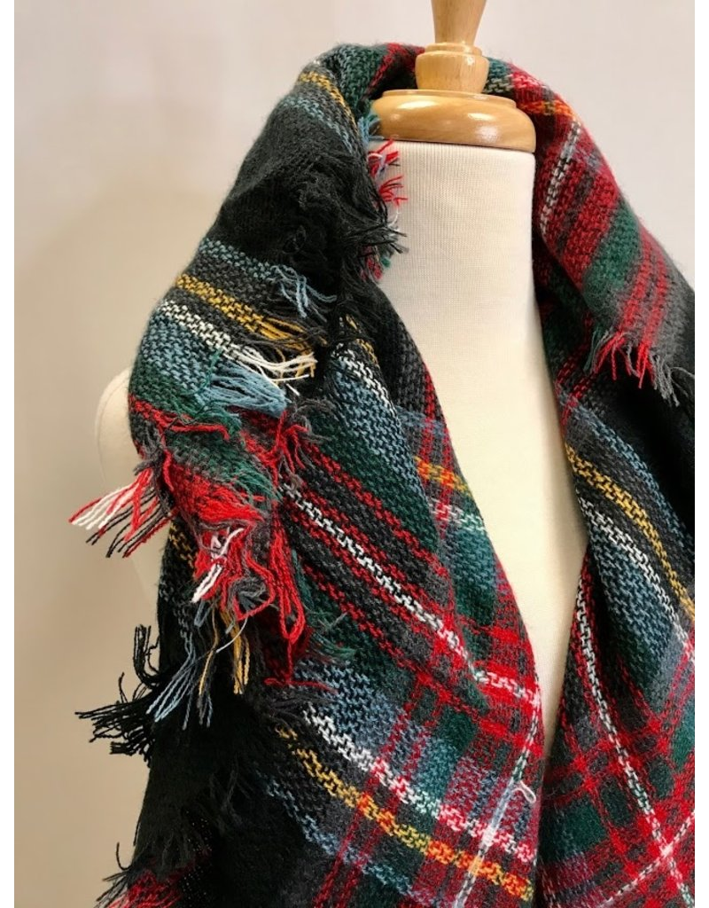 The Warm Memories Plaid Blanket Scarf