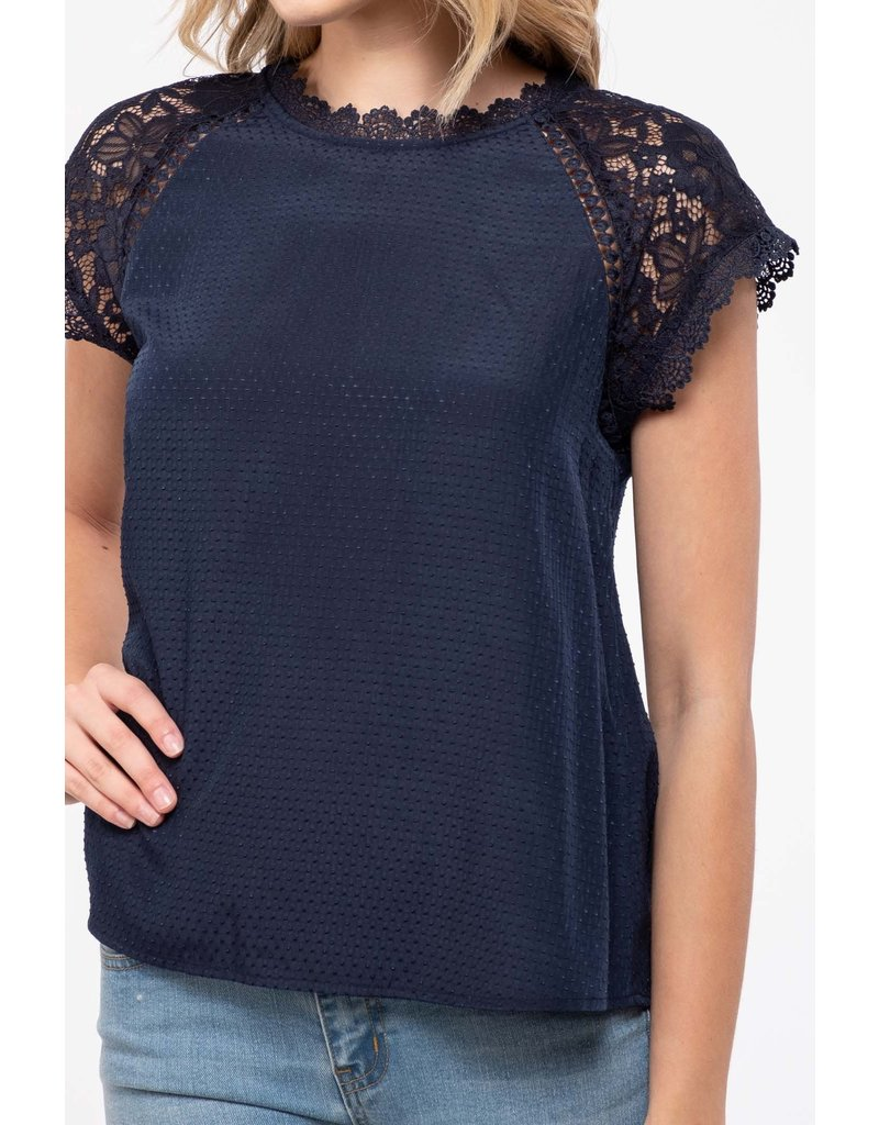The Simply Stunning Satin Lace Blouse