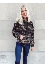 The Gregory Hooded Camo Sherpa Pullover