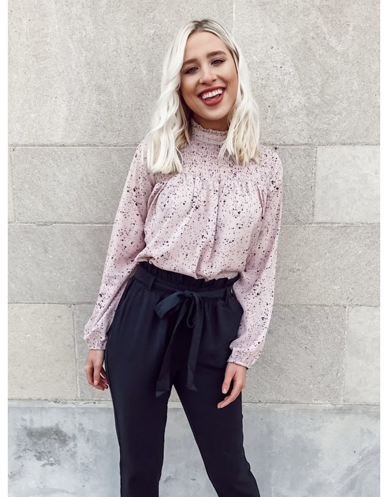 The Writing Love Notes Printed Blouse