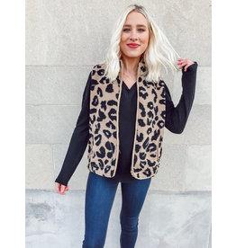 The Josephine Leopard Sherpa Vest