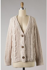 The Lucky One Chunky Chenille Cardigan