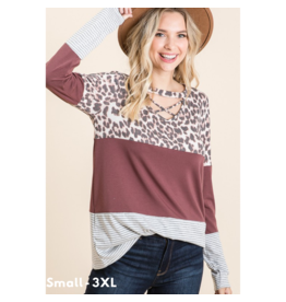Micky Color Block Long Sleeve