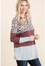 The Micky Criss Cross Color Block Top
