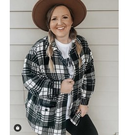 The Game Changer Pocketed Plaid Shacket