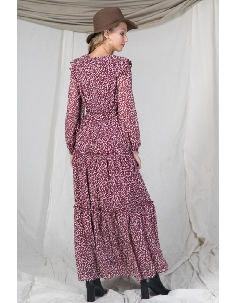 The Nonstop Glam Printed Maxi Dress