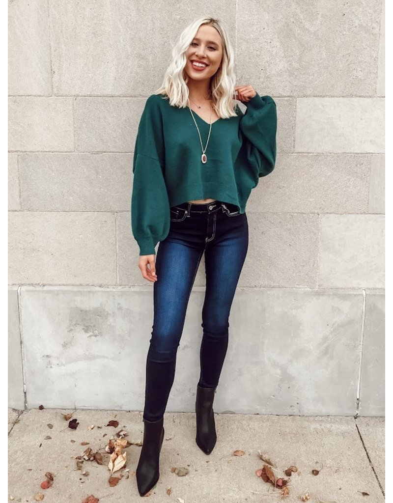 The Let's Go Out Puff Sleeve Sweater