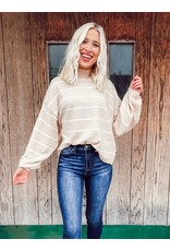 The Dreamer Striped Balloon Sleeve Sweater