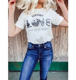 The Support Local Farmers Graphic Tee