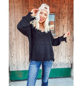 The Real Deal Distressed Sweater
