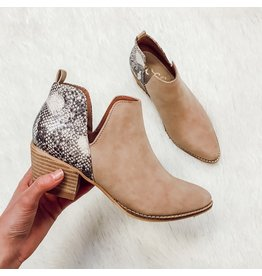 The Eloise Snake Skin Bootie