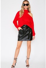 The Rubi Shoulder Cut Out Sweater