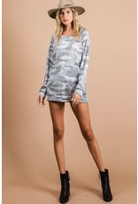 The I Wish You Would Camo Terry Knit Top