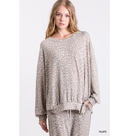 Jodifl Giselle Leopard Print Pullover