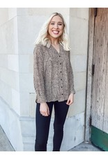 The Fearless Spotted Button Down Top
