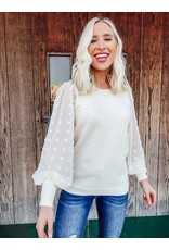 The In Vogue Swiss Dot Sweater