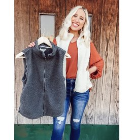 Umgee Layer Of Love Fleece Vest