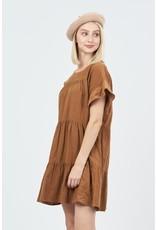 The Best Day Corduroy Babydoll Dress